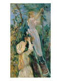 The Cherry Picker (Oil on Canvas) Giclee Print by Berthe Morisot