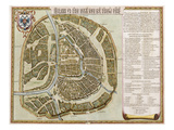 Amsterdam: Labore and Sumptibus, from 'Geographie Blaviane', 1662 (Hand Coloured Etching) Giclee Print by Joan Blaeu