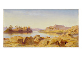 Philae, Egypt, 1863 (Oil on Canvas) Giclee Print by Edward Lear