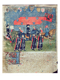 Entrance of Charles Vii (1403-61) into Toulouse (Vellum) Giclee Print by  French