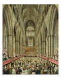 An Interior View of Westminster Abbey on the Commemoration of Handel's Centenary Giclee Print by Edward Edwards