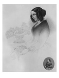 Catherine Dickens (Engraving) Giclee Print by Edwin Roffe