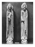 St. Clotilda and Clovis I, from the Church Notre-Dame of Corbeil Giclee Print by  French