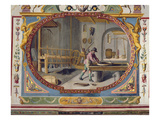 The Production of Gun Powder (Fresco) Giclee Print by Lodovico Buti