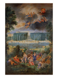 The Groves of Versailles. View of the Pool of Neptune and Walkway with the Judgement of Paris Giclee Print by Jean the Younger Cotelle