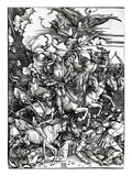 The Four Horsemen of the Apocalypse, 1498 (Woodcut) Giclee Print by Albrecht Dürer