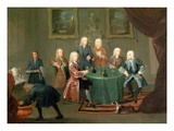 The Brothers Clarke with Other Gentlemen Taking Wine, C.1730-35 (Oil on Canvas) Giclee Print by Gawen Hamilton