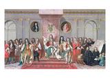 James II (1633-1701) Receiving the Mathematical Scholars of Christ's Hospital Gouache on Paper) Giclée-Druck von Antonio Verrio