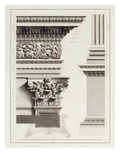 Elevation of Pedestal Entablature of the Arch at Tripoli Giclee Print by James Bruce