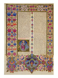 Fol.232V Second Letter from St. Paul to the Apostles, from the Borso D'Este Bible. Vol 2 (Vellum) Giclee Print by  Italian
