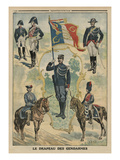 The Flag of the Gendarmes, Front Cover Illustration from 'Le Petit Journal', Supplement Illustre Premium Giclee Print by  French
