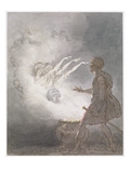 Macbeth and the Apparition of the Armed Head, Act IV, Scene I, from 'Macbeth' Giclee Print by William Marshall Craig