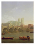 Westminster Abbey and Westminster Bridge Seen from the South, 1794 Giclee Print by Joseph Farington