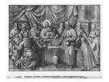 Life of Christ, the Last Supper, Preparatory Study of Tapestry Cartoon Premium Giclee Print by Henri Lerambert