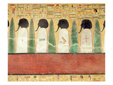 Relief Depicting Black-Headed Gods in the Underworld, from the Tomb of Seti I (R.1294-1279 BC) Giclee Print by  Egyptian 19th Dynasty