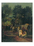 Circus under Trees, 1912 Giclee Print by Amandus Faure