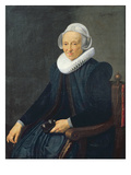 Portrait of an Old Woman, 1624 (Oil on Canvas) Giclee Print by Nicolaes Eliasz