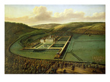 The Southeast Prospect of Hampton Court, Herefordshire, C.1699 (Oil on Canvas) Giclee Print by Leonard Knyff