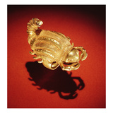 Asante Scorpion Ring, from Ghana (Gold) Giclee Print by  African
