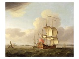 Shipping in the Thames Estuary, c.1761-66 Giclee Print by Thomas Mellish
