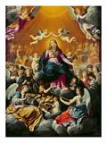 Coronation of the Virgin Premium Giclee Print by Guido Reni