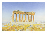 The Parthenon, C.1834 (W/C over Pencil on Paper) Giclee Print by Thomas Hartley Cromek