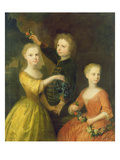 The Children of Councillor Barthold Heinrich Brockes (1680-1747) Giclee Print by Balthasar Denner