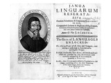 Frontispiece and Titlepage to 'Janua Linguarum Reserata' with a Portrait of Jan Amos Komensky Premium Giclee Print by  Czech