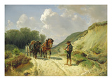 Two Types of Harness, C.1855 (Oil on Canvas) Giclee Print by Hermann Kauffmann