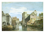 The Westgate, Canterbury (Bodycolour on Paper) Giclee Print by Paul Sandby