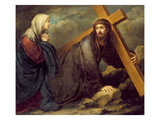 Christ at Calvary (Oil on Canvas) Giclee Print by Bartolome Esteban Murillo