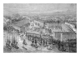 St. Katherine's Docks, London, Published in 'The Illustrated London News', 1871 (Engraving) Giclee Print by  English