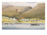 The Admiral House, Simon's Town, Cape of Good Hope, 1844 (W/C on Paper) Giclée-Druck von Lt. Humphrey John Julian