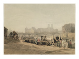 Ile De La Cite, Paris, (W/C on Wove Paper) Giclee Print by Richard Parkes Bonington