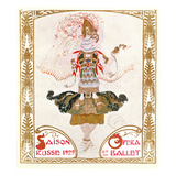 Cover of a Programme for the Russian Season of Opera and Ballet, 1909 (W/C on Paper) Giclee Print by Leon Bakst
