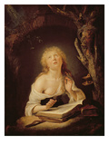 The Holy Virgin (Oil on Oak Panel) Giclee Print by Gerrit or Gerard Dou