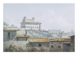 The Villa Medici, Rome, 1784 (W/C over Graphite on Paper) Giclee Print by John Warwick Smith