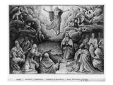 Life of Christ, Ascension, Preparatory Study of Tapestry Cartoon for Church Saint-Merri in Paris Giclee Print by Henri Lerambert