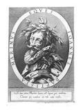Giambattista Marino (Engraving) Giclée-Druck von Simon Vouet