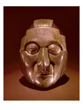 Mosaic Mask Representing an Old Man, from the Ruz Tomb under the Temple of the Inscriptions Giclee Print by  Mayan