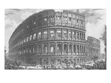 View of the Flavian Amphitheatre, known as the Colosseum from 'Vedute', First Published in 1756 Giclee Print by Giovanni Battista Piranesi
