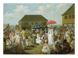 Linen Market, Dominica, c.1780 Giclee Print by Agostino Brunias