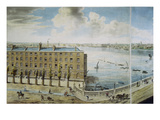 Panoramic View of London, 1792-93 (Coloured Aquatint) Giclee Print by Robert Barker