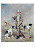 Richard Prince, with Damon, the Late Colonel Mellish's Pointer Giclee Print by Benjamin Marshall