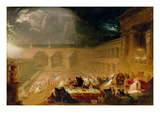 Belshazzar's Feast (Oil on Canvas) Giclee Print by John Martin