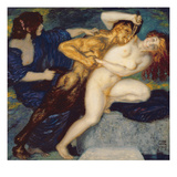 Scherzo, 1909 (Oil on Canvas) Giclee Print by Franz von Stuck