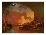 The Great Fire of London, c.1797 Giclee Print by Philip James Loutherbourg