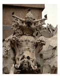 The Fountain of the Four Rivers, Detail of the Coat of Arms of Innocent X (1574-1655), 1648-51 Giclée-tryk af Giovanni Lorenzo Bernini