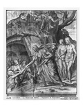 Life of Christ, Christ's Descent into Limbo, Preparatory Study of Tapestry Cartoon Giclee Print by Henri Lerambert