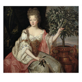 Portrait of Francoise Marie De Bourbon (1677-1749) Duchess of Orleans (Mademoiselle De Blois) Giclee Print by Pierre Gobert